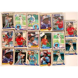 Fleer Expos Baseball Cards from the 1985 season  (110391)