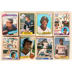 Topps Angels Baseball Cards from the 1980 Season  (109894)