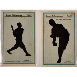 Two Baseball Silhouette Cards  (125937)