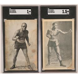 Heavyweight Joe Jeannette & Sam Langford Postcards  (117203)