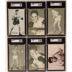 Willie Pep & Five Other 1940's Boxer Cards  (119267)