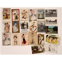 Lady's Golf Postcards  (125968)