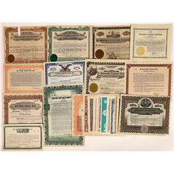 Golf Club Stock Certificate Collection  (124723)