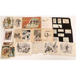 Ice Skating Cards & Other Ephemera  (126469)