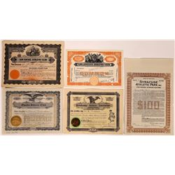 Athletic Clubs Stock Certificate & Bond Group (10)  (126345)