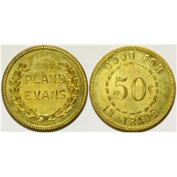 Uncirculated Pland Evans Token, Rio Tinto, Nevada  (104509)