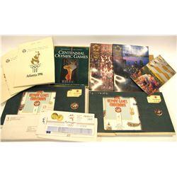 1996 Atlanta Olympic Pins and Ephemera  (571400)