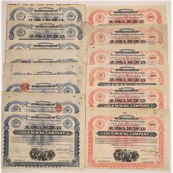 Alaska Mexican Gold Mining Co. Stock Certificates (14)  (126018)