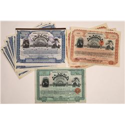 Alaska Treadwell Gold Mining Co. Stock Certificates (10)  (126020)