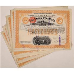Alaska United Gold Mining Company Stock Certificates (19)  (126016)
