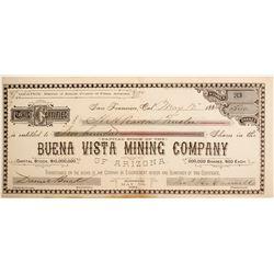 Buena Vista Mining Company of Arizona Stock  (77028)