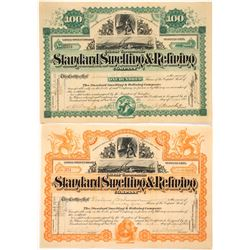 Two Different Standard Smelting & Refining Company Stock Certificates  (59484)