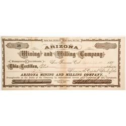 Arizona Mining and Milling Company - Rare Temporary Stock  (77016)