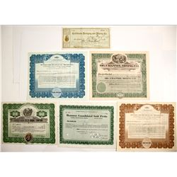 Hydraulic and Dredge Mining Certificates (6 count)  (61758)