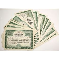 Cresson Consolidated Gold Mining and Milling Certificates (100 count)  (61739)