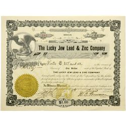 The Lucky Jew Lead & Zinc Company Stock, Kansas, 1919  (118721)