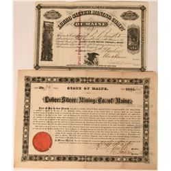 Lubec Silver Mining Company of Maine Stock & Bond  (113574)