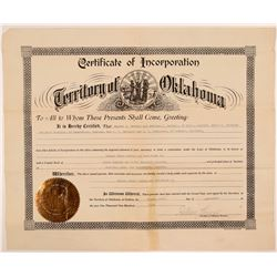 Radersburg, MT Gold Certificate of Incorporation  (108174)