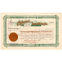 Cataract Copper Mining Company Stock  (109535)