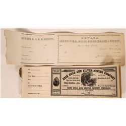 Historical Nevada Stocks & Documents 1860-1870s  (118159)