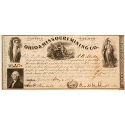 Ohio & Missouri Mining Company Stock  (81972)
