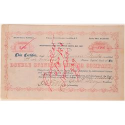Double Standard Mining Company Stock Certificate  (113268)