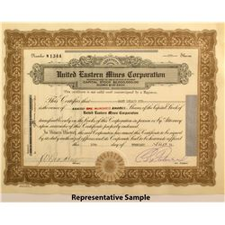 United Eastern Mines Corp. Stock Certificates  (50021)