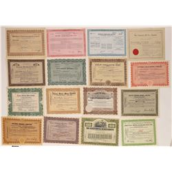 Canada Stock Certificate Group, Sixteen Different Certificates  (118707)