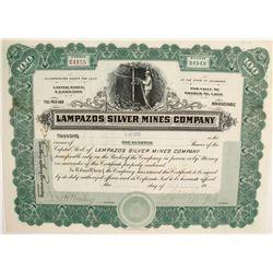 Lampazos Silver Mines Company Stock  (77948)