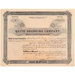Quito Dredging Company Stock Certificate  (106811)