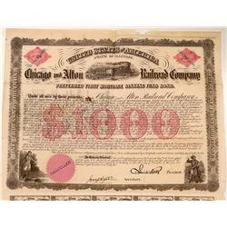 Chicago & Alton Railroad Co Preferred First Mortgage Bond, 1862  (111112)