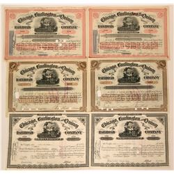 Chicago, Burlington and Quincy Railroad Co. Stocks  (115947)