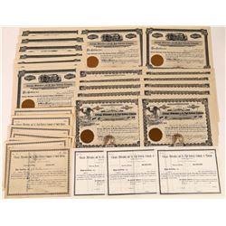 Large Assortment of Unissued, Unused Chicago, Milwaukee and St. Paul Railway Company Stocks  (123476