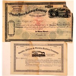Kansas and Nebraska Railroad Stocks  (110996)