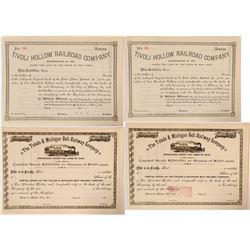 Ohio and New York Railroad Stocks  (112984)