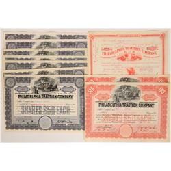Philadelphia Traction Co. Stocks  (117540)