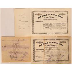Rock Island and Eastern Illinois Railway Co. Stocks  (114546)