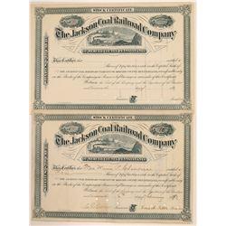 The Jackson Coal Railroad Co. Stocks  (110015)