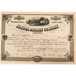 Sonora Railway Company Stock  (110534)