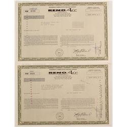 Reno Air Stock Warrants (2)  (90583)