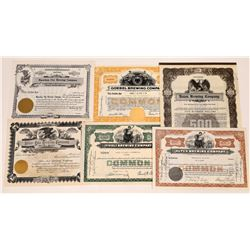 Brewing Company Stock Certificate Collection  (109313)