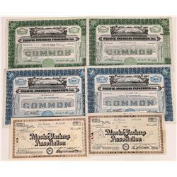 Alaska Fishing Industry Stock Certificates  (109283)