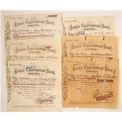 Anglo Californian Bank Stocks(6 Different Dates)  (80112)