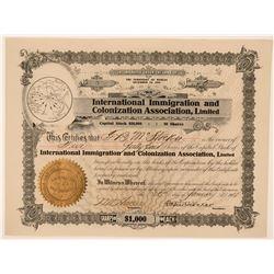 International Immigration and Colonization Assoc., LTD  (115887)