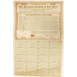 Coal River Navigation Bond Cert  (117183)
