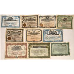 Piano & Organ Company Stock Certificates  (124726)