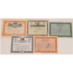 US Printing Related Stock Certificates (5)  (126036)