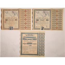 Three Pictorial Mexican and Spanish Bonds  (126234)