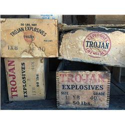 Trojan Powder Boxes (4)  (122155)