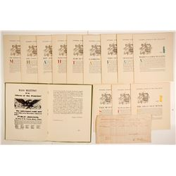 Broadside of Cal. Gold Rush 1849; Pictorial History of Gold Rush  (76929)